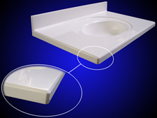 Gruber Systems Modular Vanity Deck or Countertop molds for cultured marble and solid surface manufacturing